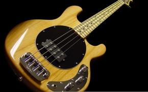 Картинка black, yellow, bass guitar