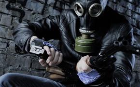 Картинка оружие, кирпич, куртка, противогаз, магазин, обойма, фильтр, ак 74