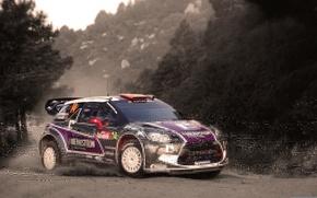 Картинка Авто, Спорт, Машина, Поворот, Citroen, DS3, WRC, Rally, Ралли
