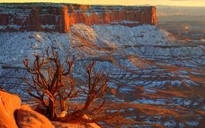 Обои canyonlands, utah, сша, небо, горизонт, закат