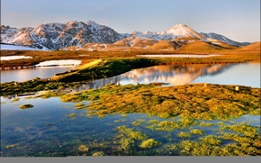 Картинка небо, горы, озеро, Италия