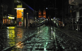 Картинка дорога, ночь, улица