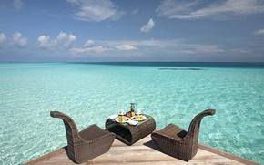Картинка океан, завтрак, лагуна