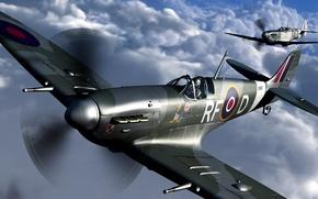 Картинка Англия, истребитель, Spitfire Mk.Vc