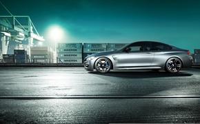 Картинка BMW, Night, Side, Summer, Port, F82