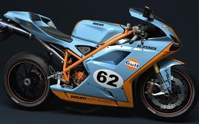 Картинка мотоцикл, Ducati, dangeruss, 1098, GULF