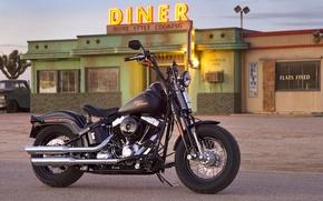 Картинка двигатель, размытость, мотоцикл, парковка, просто, без, Harley-Davidson, серия, двумя, V-образный, боке., сделан, второй мировой войны, …