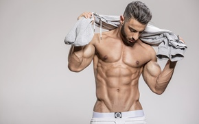 Обои muscle, men, abs
