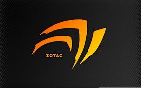 Картинка оранжевый, минимализм, Nvidia, корпорация, видеокарты, zotak