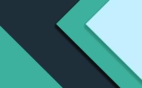 Обои зеленый, Android, текстура, абстракция, салатовый, материал, синий