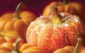 Картинка блестки, тыква, Хеллоуин, сахар