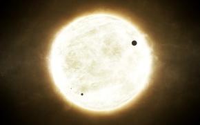 Обои планеты, энергия, звезда, космос