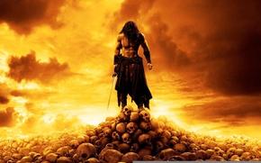Обои Conan The Barbarian, Конан-варвар, черепа, 2011