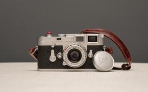 Картинка макро, фон, камера, Leica M3 Elmar 50mm 2.8