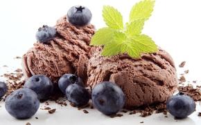 Обои berries, ice cream, sweet, dessert