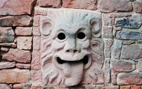Картинка маска, водосток, каменная кладка