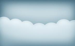 Картинка волны, минимализм, облако