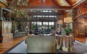Картинка дизайн, пространство, стиль, вилла, интерьер, камин, гостиная, антиквариат