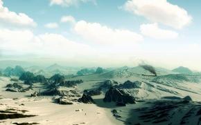 Обои песок, небо, пустыня