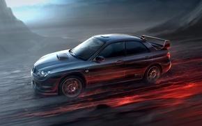 Картинка авто, рисунок, скорость