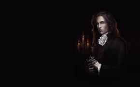 Картинка свечи, кольцо, арт, вампир, парень, fantasy, diablera