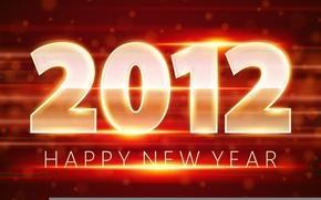 Картинка оранжевый, красный, праздник, новый год, 2012, happy new year, год дракона, наступающий