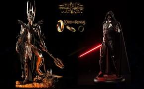 Картинка Star Wars, The Lord of the Rings, Sauron, The Dark Lord of Mordor, Sideshow, Darth …