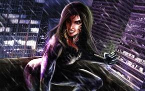 Обои взгляд, девушка, фантастика, арт, Marvel Comics, симбиот, Sydney Savage, symbiotic