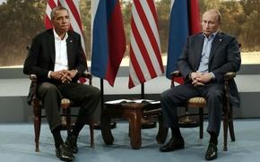 Картинка грусть, печаль, Путин, Обама, Президент России, уныние, Барак, лидеры стран, Владимир Владимирович, президент сша