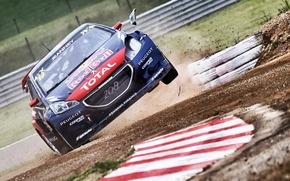 Картинка Фара, Прыжок, Peugeot, rallycross, 208, worldrx, Davy Jeanney