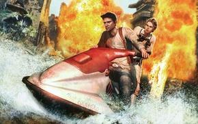 Картинка Naughty Dog, Натан Дрейк, Елена Фишер Game, Uncharted: Drake's Fortune