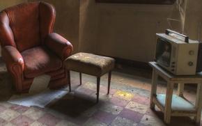 Картинка кресло, телевизор, стул