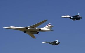 Обои Су-27, Белый Лебедь, Су-30, Ту 160, Black Jack