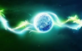 Обои луна, планета, цвет, 156, туман