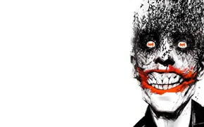 Обои улыбка, batman, летучие мыши, joker