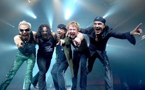 Картинка группа, rock, рок, Scorpions, Rudolf Schenker, Matthias Jabs, Paweł Mąciwoda, Klaus Meine, James Kottak