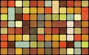 Обои кубики, разноцветные, абстракция