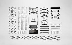 Картинка ретро, механизм, клавиши, кнопки, корпус, машинка, детали, vintage, retro, винтаж, old, печатная, старая, запчасти, рычаги, …