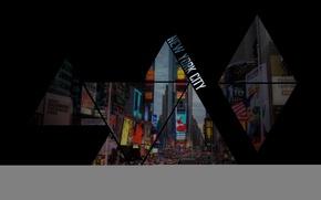 Картинка треугольники, Нью-Йорк, New York