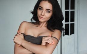 Картинка girl, studio, eyes, beautiful, model, beauty, women, portrait, popular, daylight, Valery Zlobin, Victoria Pokrovskaya