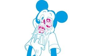 Картинка фон, череп, арт, зомби, art, Микки Маус, Micky Maus