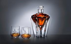 Картинка diamond, table, deer, ducks, glass bottle, fine vessels of glass, Johnnie walker whiskey