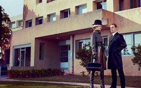 Картинка фотосессия, Michael Fassbender, Vogue, Natalia Vodianova