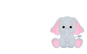 Картинка слон, арт, детская. слоник