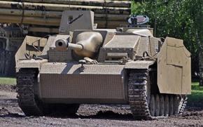 Картинка войны, установка, бронетехника, артиллерийская, орудие, немецкая, StuG III, самоходно, мировой, Второй, времён, штурмовое, Sturmgeschütz III