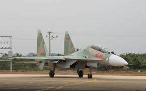 Картинка Su-30, истребитель, Vietnam, аэродром, многоцелевой