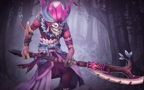 Картинка лес, арт, посох, шаман, Dota 2, Dazzle, Shadow Priest