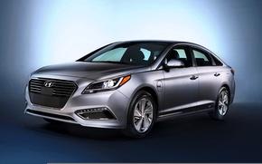Обои Hyundai, 2015, Sonata, хендай, PHEV