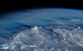 Картинка облака, планета, атмосфера, Земля, циклон