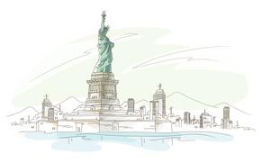 Картинка америка, статуя свободы, нью йорк
